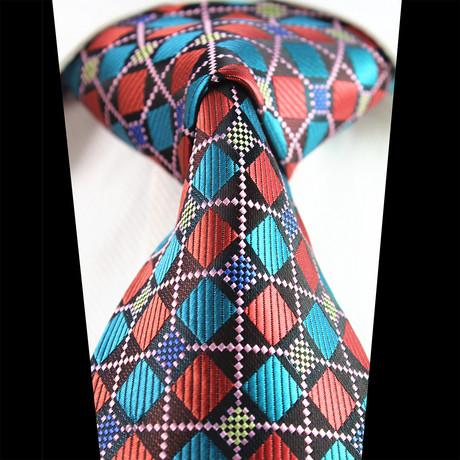 Silk Neck Tie + Gift Box // Multi Color Check