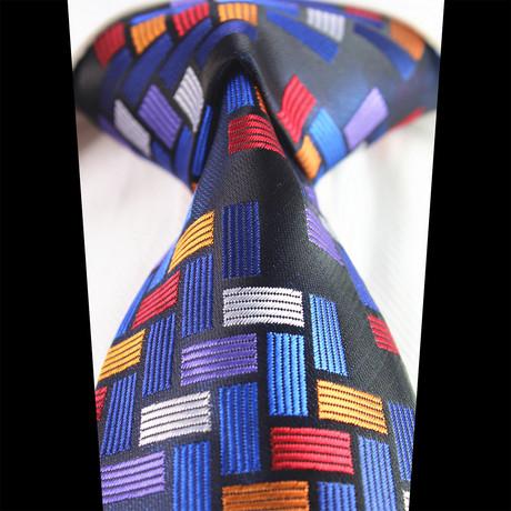 Silk Neck Tie + Gift Box // Checked Multi Color