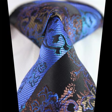 Silk Neck Tie + Gift Box // Blue Paisley