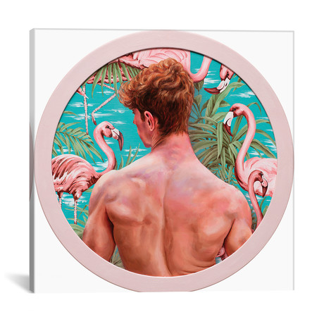"Flamingo Boy // Oleksandr Balbyshev (18""W x 18""H x 0.75""D)"