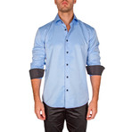 Edward Long-Sleeve Button-Up Shirt // Blue (XS)