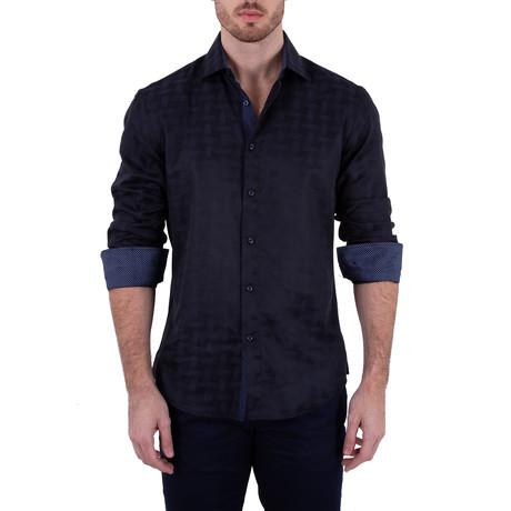 Cody Long-Sleeve Button-Up Shirt // Black (XS)