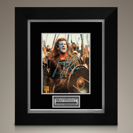 Braveheart // Mel Gibson Signed Photo // Custom Frame