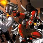 Deadpool Gun // Ryan Reynolds, Josh Brolin + Stan Lee Signed + Wood Stand