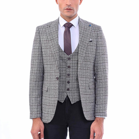 Miles Slim-Fit Blazer + Vest // Gray-Green (Euro: 44)