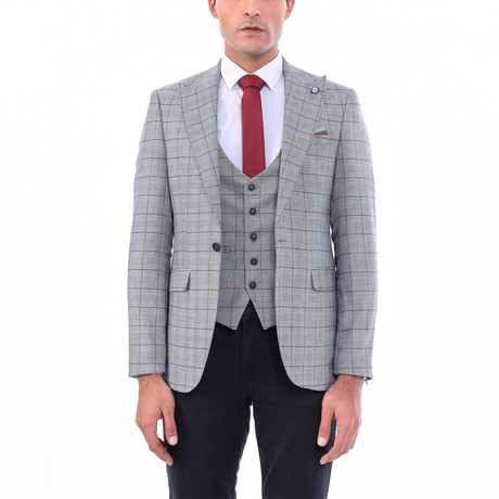 Garth Slim-Fit Blazer + Vest // Gray (Euro: 44)