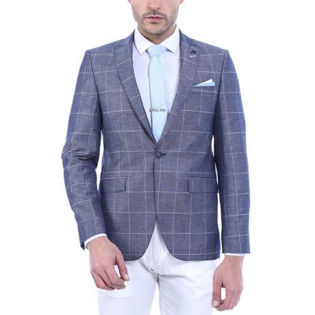 Milan Slim Fit Blazer // Blue (Euro: 44)