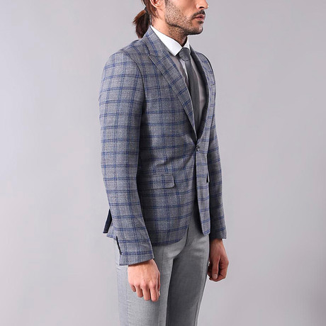 Johnny Slim Fit Blazer // Gray (Euro: 44)
