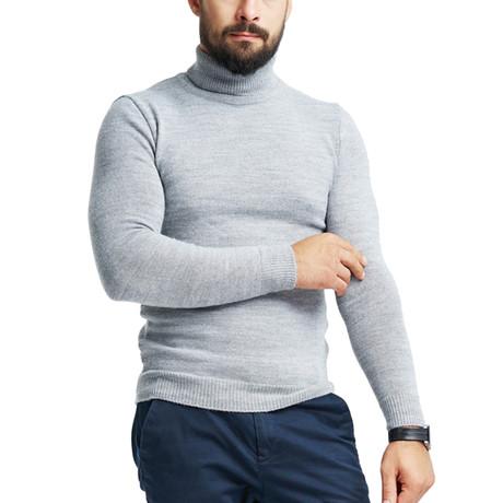 Wool Polo Neck // Light Gray (S)