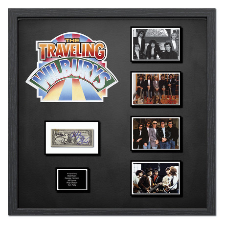 Signed + Framed Currency Collage // The Traveling Wilburys