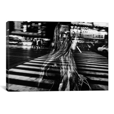 """Girl With Cigarette // Tatsuo Suzuki (40""""W x 26""""H x 1.5""""D)"""