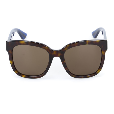 bed480bb413 Gucci    Women s GG0034S-004 54 Sunglass    Havana + Brown