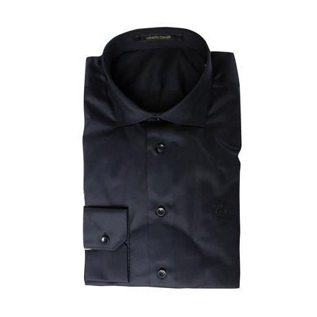 Comfort Fit Dress Shirt // Midnight Black (US: 15R)