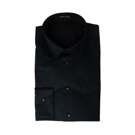 Slim Fit Dress Shirt // Midnight Black (US: 15R)
