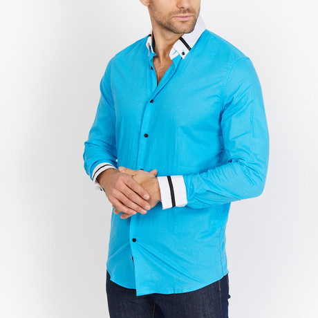 Blanc // Button Up // Sapphire Blue (Medium)