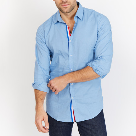 Blanc // Button Up // Light Blue Sapphire (Large)