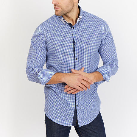 Blanc // Button Up // Blue (Small)