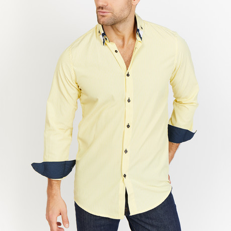 Blanc // Button Up // Yellow (Small)