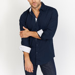Charles Button Up // Navy (M)