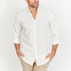 Blanc // Check Button Up // White + Cream (Medium)