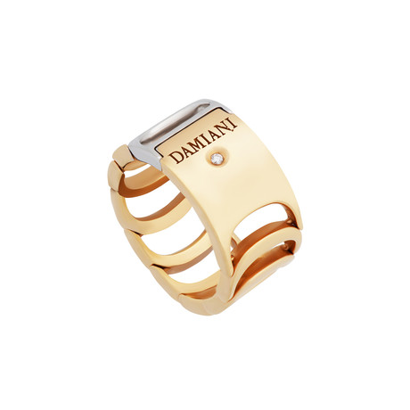 Damiani Damianissima 18k Two-Tone Gold Diamond Ring I // Ring Size: 7