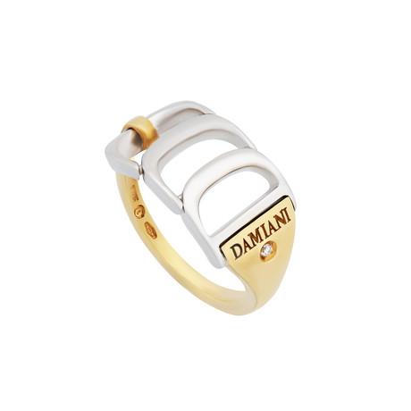 Damiani Damianissima 18k Two-Tone Gold Diamond Ring // Ring Size: 7