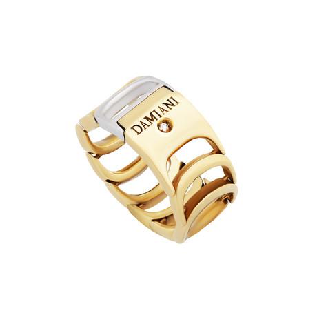 Damiani Damianissima 18k Yellow Gold + 18k White Gold Diamond Ring // Ring Size: 6.25