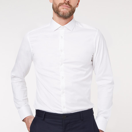 Regular Fit Business Shirt V1 // White (XS)