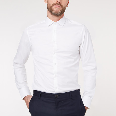 Slim Fit Business Shirt V1 // White (XS)