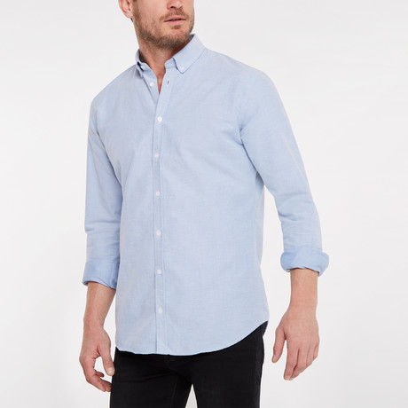 Regular Fit Casual Shirt // Blue (XS)