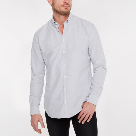 Regular Fit Casual Shirt // Gray (XS)