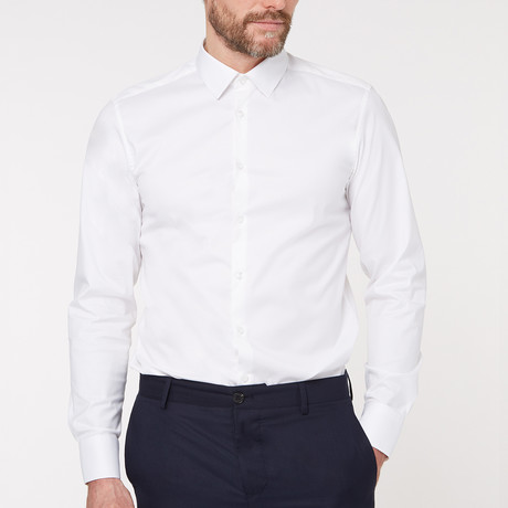 Regular Fit Business Shirt V2 // White (XS)