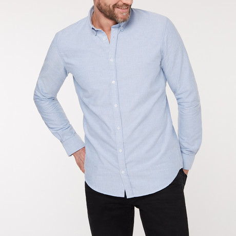 Slim Fit Casual Shirt // Blue (XS)