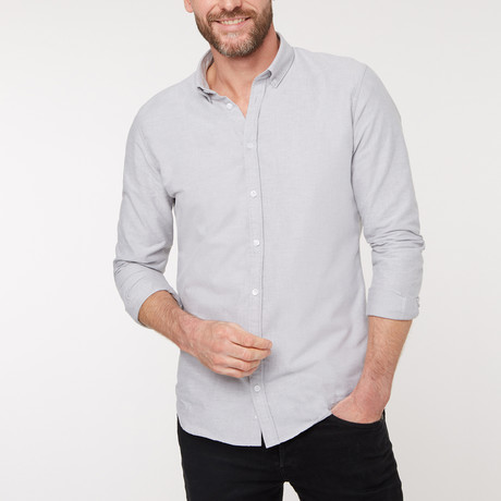 Slim Fit Casual Shirt // Gray (XS)