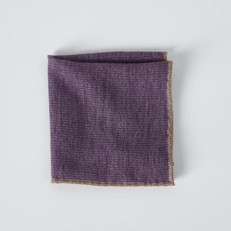 Textured Pocket Square // Purple + Beige