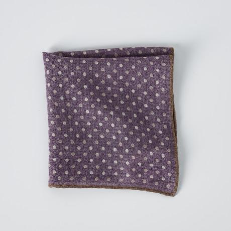 Pocket Square // Purple + White + Brown