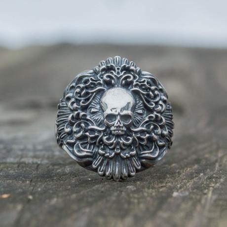 Skull Signet Ring // Silver (14)