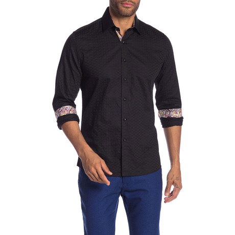 Rocky Slim-Fit Dress Shirt // Black (S)