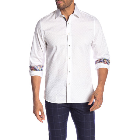 Rocky Slim-Fit Dress Shirt // White (S)