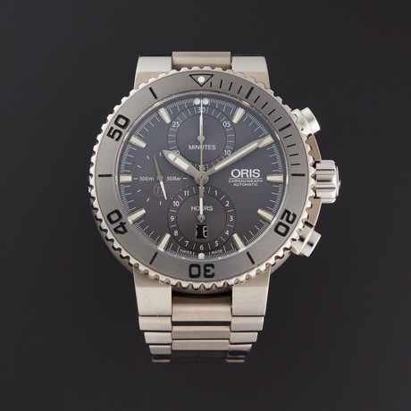 Oris Aquis Titan Chronograph Automatic // 67476557253MB // Store Display