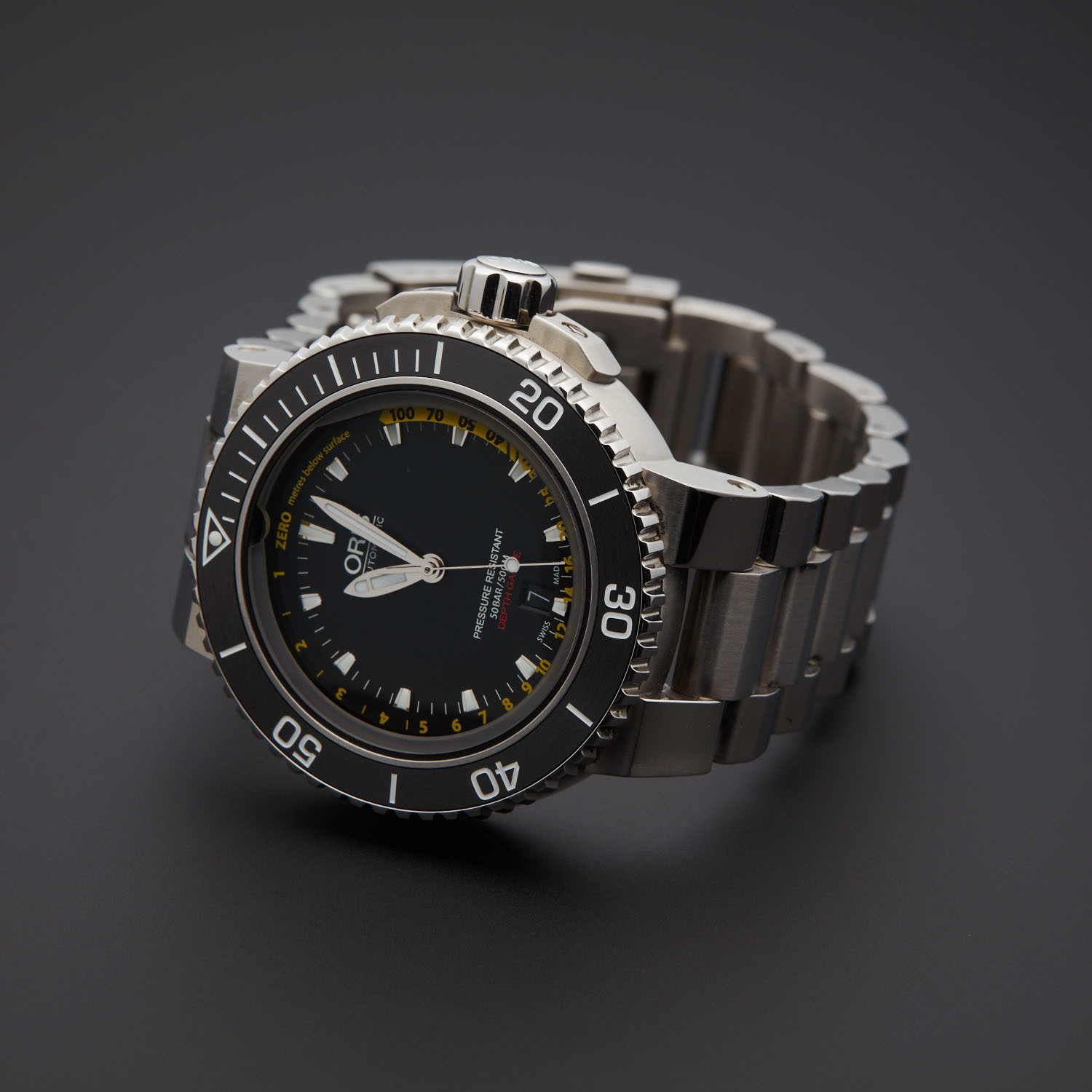 26b53dbe2 Oris Aquis Depth Gauge Automatic // 733 7675 4154 MB // Pre-Owned ...