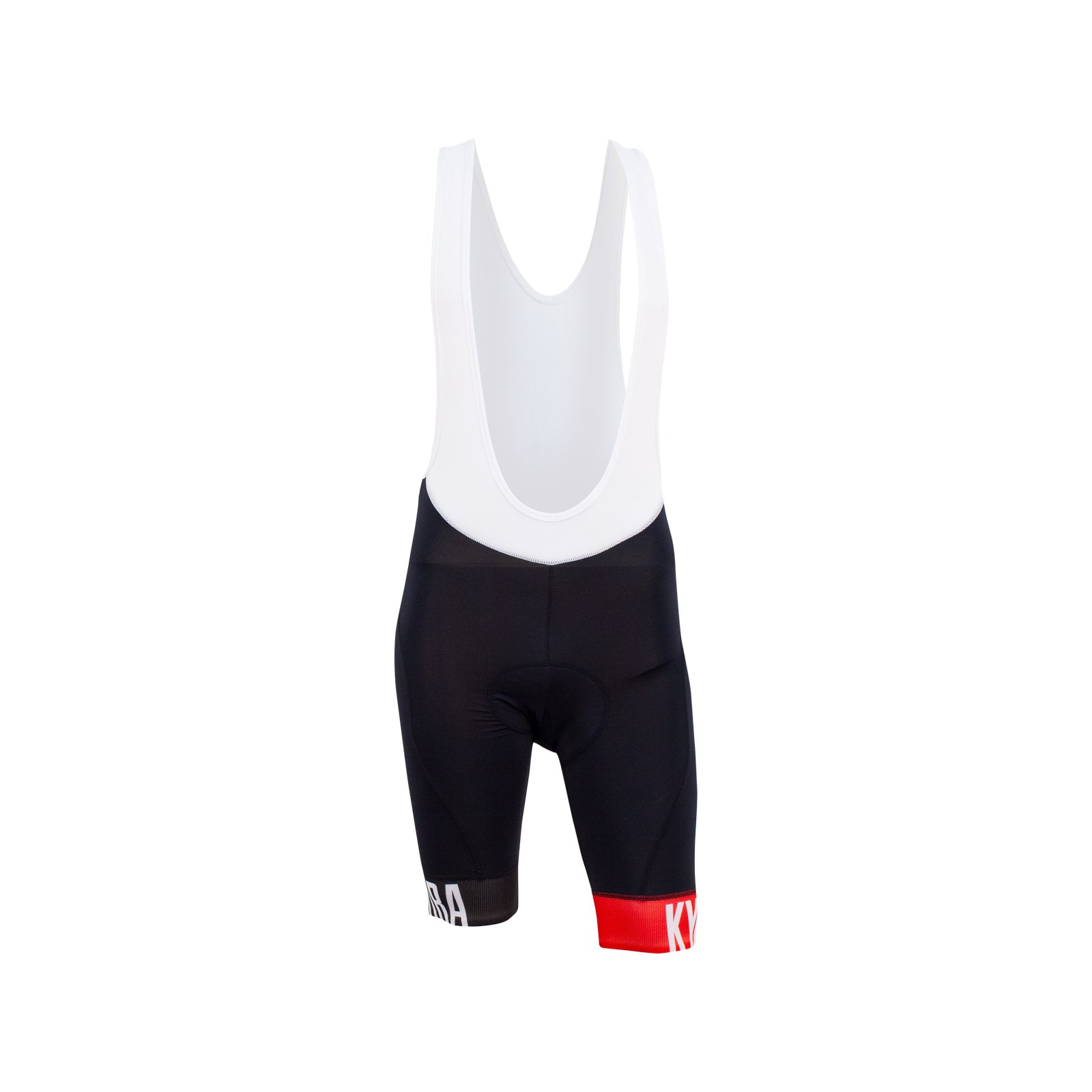 Onyx Bib Shorts // Black + Red (S) - KYMIRA Sport - Touch of