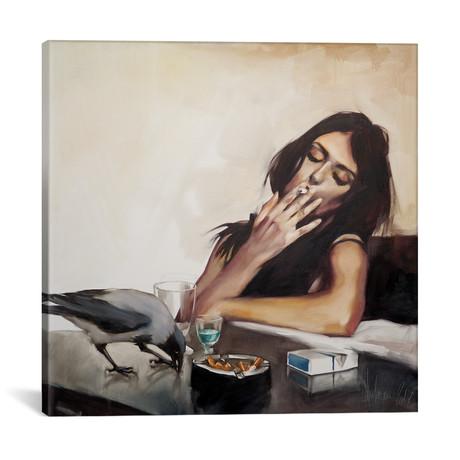 """Absinthe Time // Igor Shulman (18""""W x 18""""H x 0.75""""D)"""