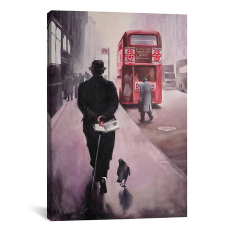 "London Walking (40""W x 60""H x 1.5""D)"