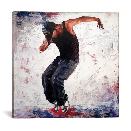 """Street Dancer III (18""""W x 18""""H x 0.75""""D)"""