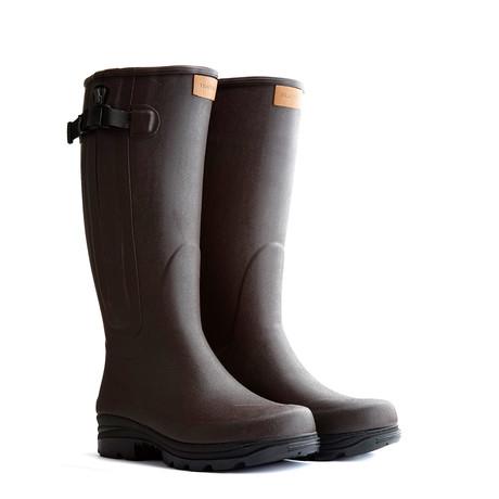 Broadford Rubber Boot // Dark Brown (Euro: 48)