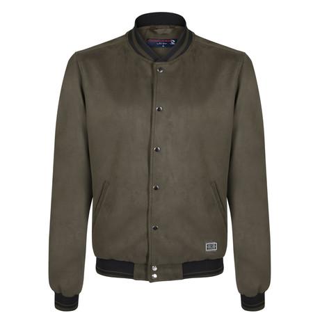 Evren Spring Nubuck Jacket // Olive (S)