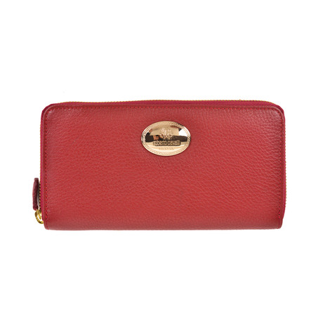 Roberto Cavalli // Continental Leather Wallet // Burgundy