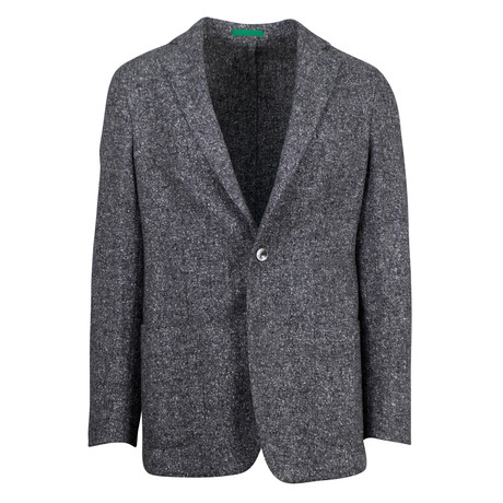 Pal Zileri // Wool Blend Sport Coat + Flap Pockets // Gray (US: 48R)