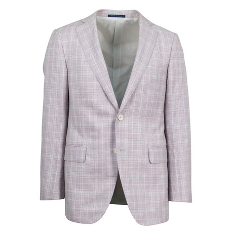 Pal Zileri // Wool Blend 2 Button Sport Coat // Pink (US: 48R)